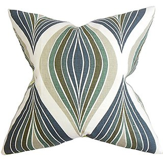 The Pillow Collection Carlow Geometric Pillow, Blue