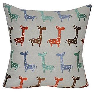 Loom & Mill P0409-2222P Linen Giraffe Decorative Pillow, 22 x 22