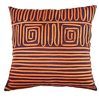 A1 Home Collections Geometric Cotton Throw Pillow, 18