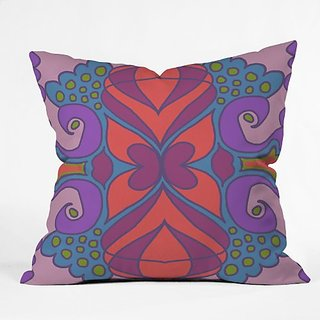 DENY Designs Paula Ogier Coral Sea 1 Throw Pillow, 16 x 16