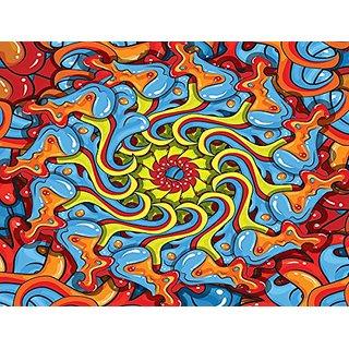JP London PMUR2457 uStrip Peel and Stick Removable Wall Decal Sticker Mural, Graffiti Spiral Tribal Tattoo, 4 x 3-Feet