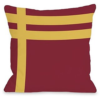 Bentin Home Decor Three Lines Throw Pillow by OBC, 16