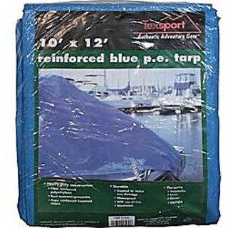 Texsport Blue Reinforced Rip-Stop Polyethylene Tarp, 8 x 10,