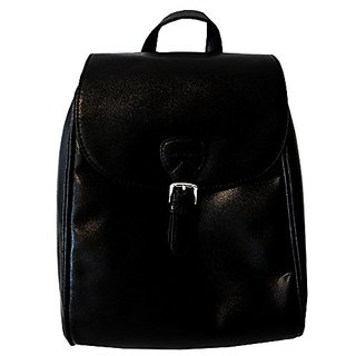 David Jones Stylish PU Everyday Backpack Black