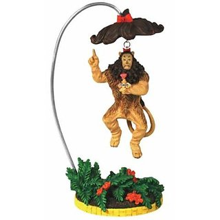 6 Inch Cowardly Lion with a Heart of Courage Medal on Chest Figurine