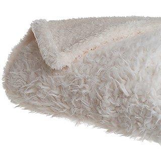 Lavish Home Solid Soft Plush Sherpa Fleece Throw Blanket, White