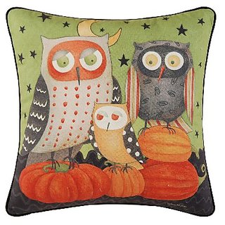 C & F Enterprises 861442271 Owl Pillow, 18 by 18-Inch