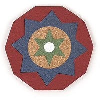 Kaleidoscope Trivet Color: Red