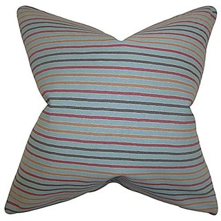 The Pillow Collection Jaylen Stripes Pillow, Blue