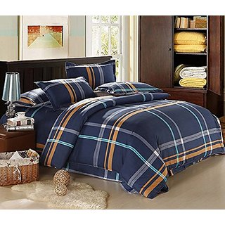 InfiniteS 4 Pieces Printed Duvet Cover Sets (King 4pcs, Plaids)
