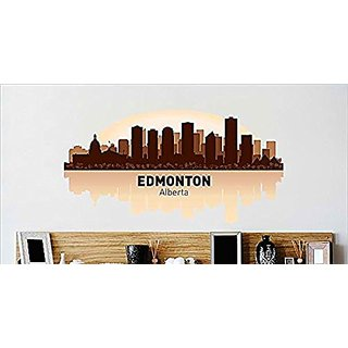 Design with Vinyl Cryst 469 989 As Seen Edmonton Alberta Skyline City View Beautiful Scene Landmarks, Buildings and Wate