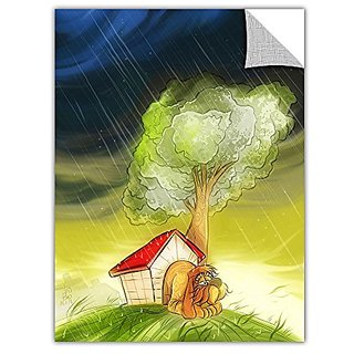 ArtWall ArtApeelz Luis Peres Dog in The Rain Removable Wall Art Graphic, 36 by 48-Inch