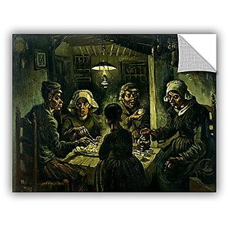 ArtWall Vincent Vangoghs The Potato Eaters Art Appealz Removable Graphic Wall Art, 18 by 24-Inch, Multicolor
