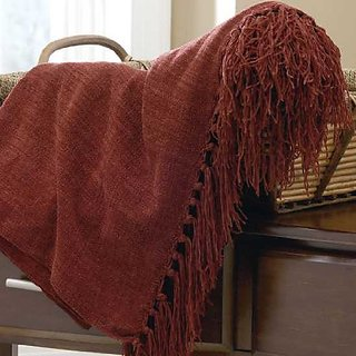 Signature Design by Ashley Revere Collection Throw, Set of 3, Burgundy