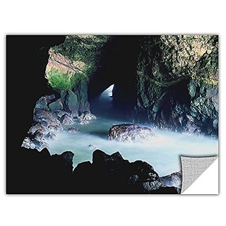 ArtWall ArtApeelz Dean Uhlinger Sea Lion Cave Removable Wall Art Graphic, 18 by 24-Inch