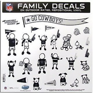 Dallas Cowboys Family Decal Large Package