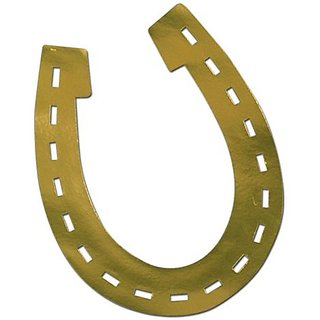 Beistle 55971 Foil Horseshoe Silhouette, 17-Inch, 24-Pack