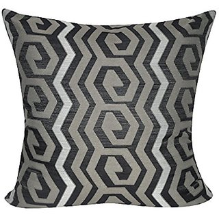 Loom & Mill P0375-2222P Taupe Geometric Decorative Pillow, 22 x 22