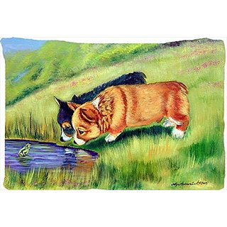 Carolines Treasures 7292PILLOWCASE Corgi Moisture Wicking Fabric Standard Pillowcase, Large, Multicolor