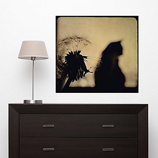 My Wonderful Walls Cat and Flower Photography Decal - Moments by Ingrid Beddoes (L)