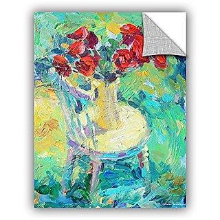 ArtWall Svetlana Novikovas Sunny Roses Art Appealz Removable Wall Art Graphic, 36 by 48-Inch