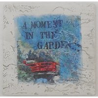 Ambience Coasters Distressed Tile Thirstystone A Moment In The Garden Set Of 4 Square Coasters AEAC5