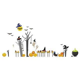 Pop & Lolli Peek-A-Boo! Hoo! Hoo! Halloween Overlay, Chic Fabric Stickers