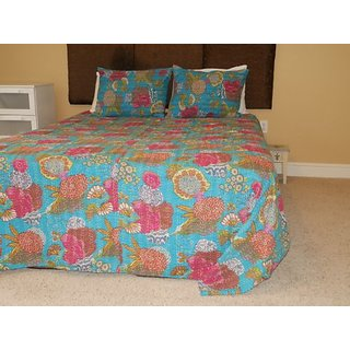 Comforter Set Twin Quilt Bedding (Blue)