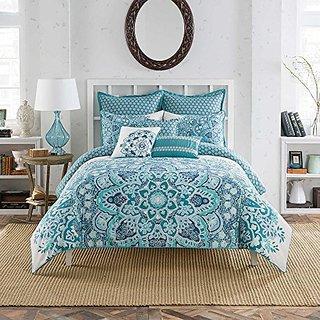 Anthology Kaya blue king comforter set cotton