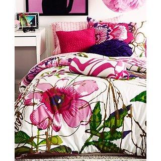 Teen Vogue Flora & Fauna Pink & White Diamond 3-Piece TWIN Sheet Set