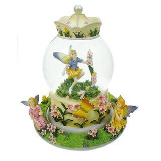 MusicBox Kingdom 14192 Glitter Globe Fairy Music Box Playing