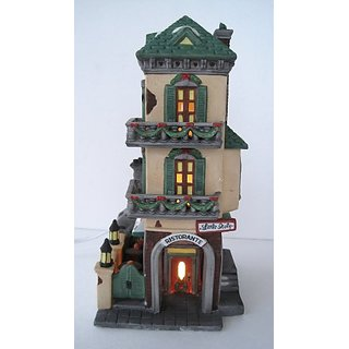 Department 56 Heritage Village Collection ; Christmas in the City Series ; Italian Restaurant Little Italy Ristorante #5