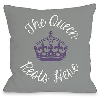 Bentin Home Decor Queen Rests Here Throw Pillow by OBC, 16