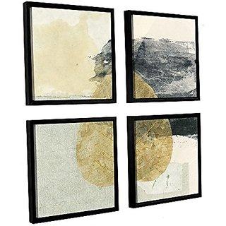 ArtWall Elana Rays Wabi Sabi Bodhi Leaf Collage 3 Appealz Removable Graphic Wall Art, 18 x 18