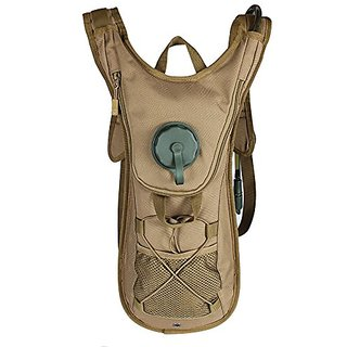 Hydration Pack 2.5L Water Rucksack Backpack Bladder Bag Cycling Hiking Climbing Pouch Browm,