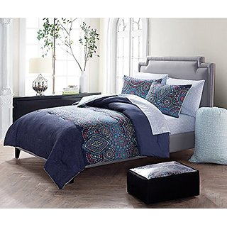 5 Pc Paisley, Twin Size Bedding, Bed in a Bag, By Karalai Bedding Collection (twin)