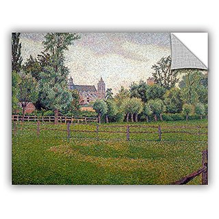 ArtWall Camille Pissarros Church At Gisors Removable Wall Art Mural, 14 x 18