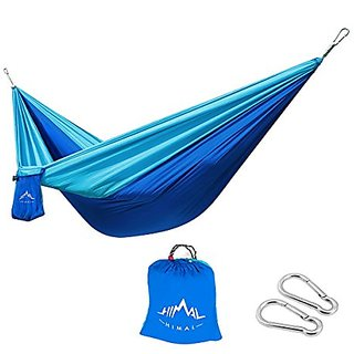 Himal Outdoor Travel Camping Multifunctional Hammocks (DeepBlue-LightBlue),275 x 140cm