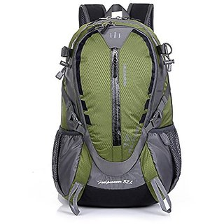 OpetHome Outdoor Travel Daypack with Floating Breathable Carrying System Backpack 32L Green,