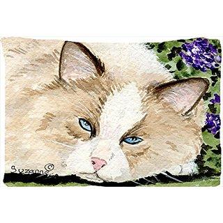 Carolines Treasures SS8825PILLOWCASE Cat Moisture Wicking Fabric Standard Pillowcase, Large, Multicolor