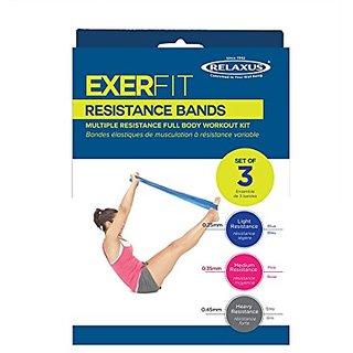 Relaxus Exerfit Resistance Bands. Set of 3,