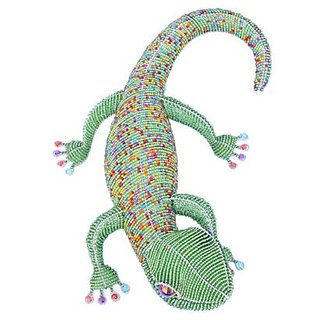 Grass Roots Creations Colored Gecko Beadworx Sculpture, Multi