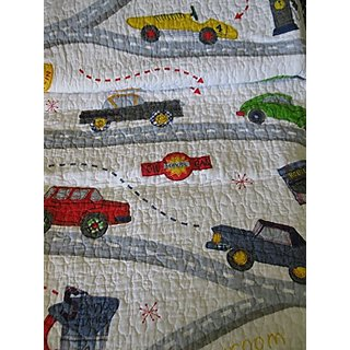 Charles Street Kids Cars Reversible Quilt Twin