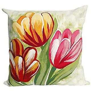 Liora Manne 7S02SA36924 Mystic III Blooms Warm Pillow