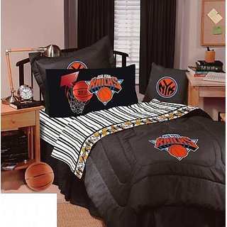 New York Knicks Bedding - NBA Comforter and Sheet Set Combo (Size: Full)