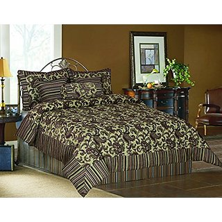 Tache Home Fashion 14224-Q 6 Piece Exotic Blooms Comforter Set, Queen
