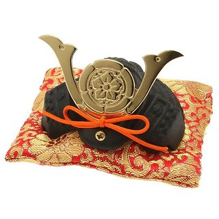 Kotobuki Iron Samurai Helmet Figurine, Oda Nobunaga