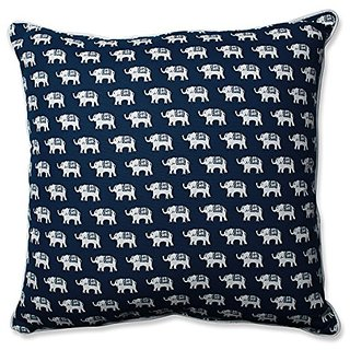 Pillow Perfect Ellie Indigo 25-Inch Floor Pillow