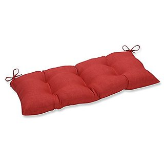 Pillow Perfect Outdoor / Indoor Rave Flame Swing/Bench Cushion