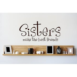 Design with Vinyl Sisters Make The Best Friends Picture Art - Living Room - Peel & Stick Sticker - Vinyl Wall Decal Size